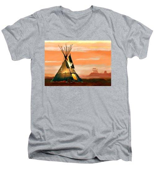 Tipi Or Tepee Monument Valley Men's V-Neck T-Shirt