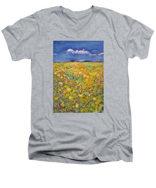 tiptoe Through Summer Meadow Men's V-Neck T-Shirt