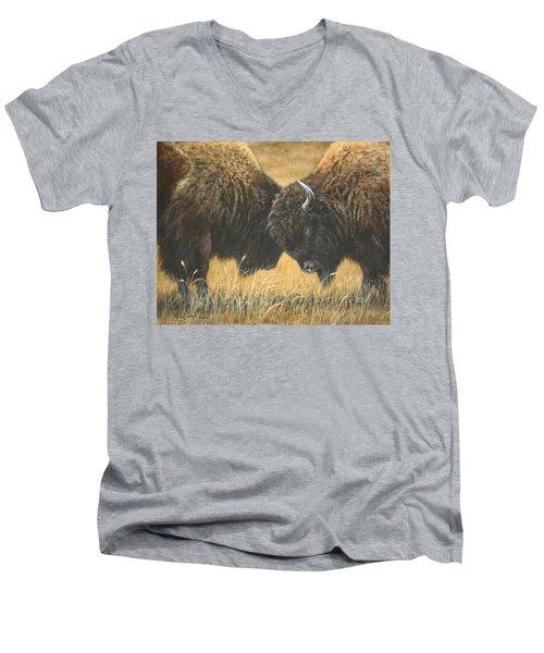 Titans Of The Plains Men's V-Neck T-Shirt