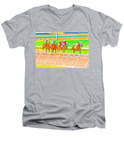 To The Finish Line Men's V-Neck T-Shirt