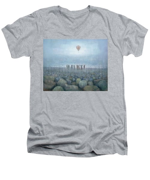 To The Mountains Of The Moon Men's V-Neck T-Shirt by Steve Mitchell