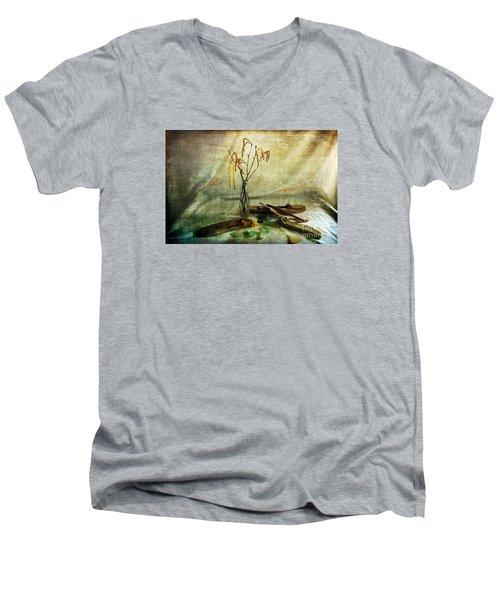 Today's Find Men's V-Neck T-Shirt by Randi Grace Nilsberg
