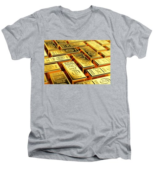 Tons Of Gold Men's V-Neck T-Shirt