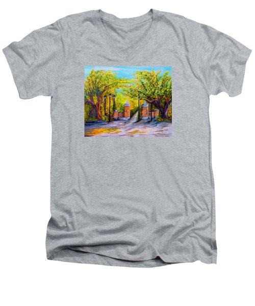 Toomer's Corner Oaks Men's V-Neck T-Shirt