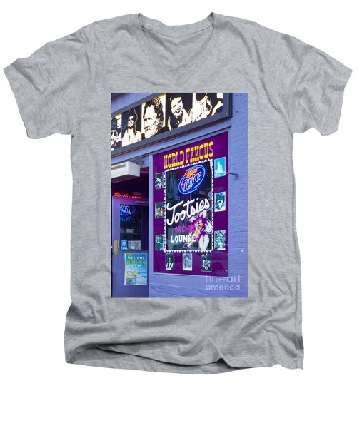 Tootsies Nashville Men's V-Neck T-Shirt