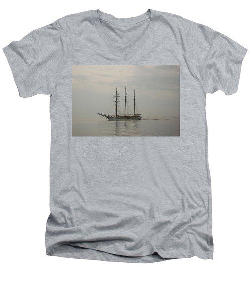 Topsail Schooner Mystic Men's V-Neck T-Shirt