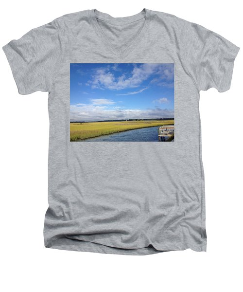 Topsail Island Icw Men's V-Neck T-Shirt
