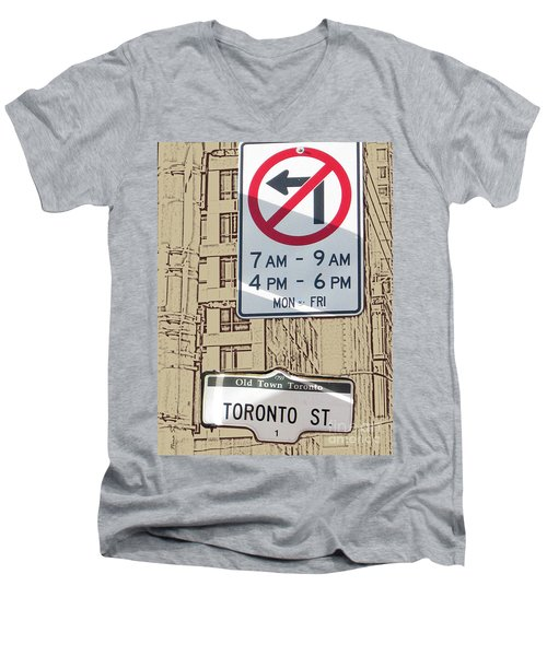 Toronto Street Sign Men's V-Neck T-Shirt