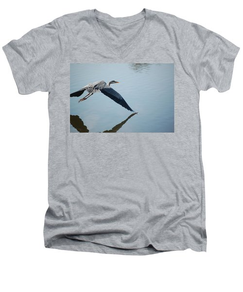 Touch The Water With A Wing Men's V-Neck T-Shirt