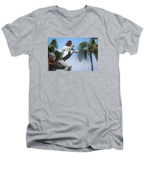 Touching The Canopy.  Men's V-Neck T-Shirt by Menachem Ganon