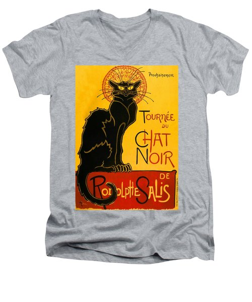 Tournee Du Chat Noir Men's V-Neck T-Shirt