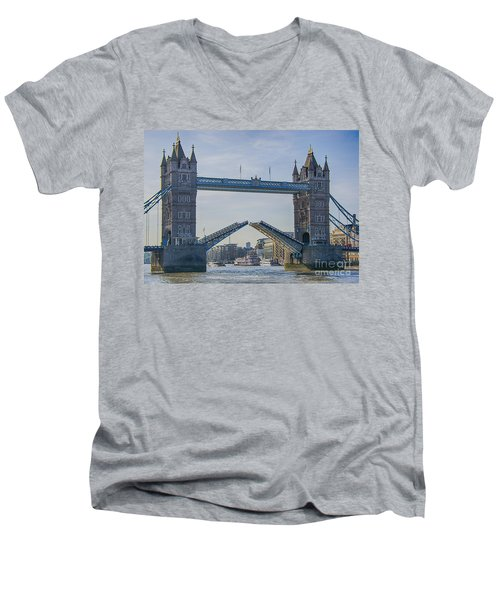 Tower Bridge Opened Men's V-Neck T-Shirt