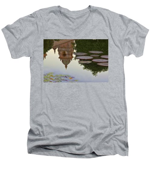 Men's V-Neck T-Shirt featuring the photograph Tower In Lotus Position by Gary Holmes