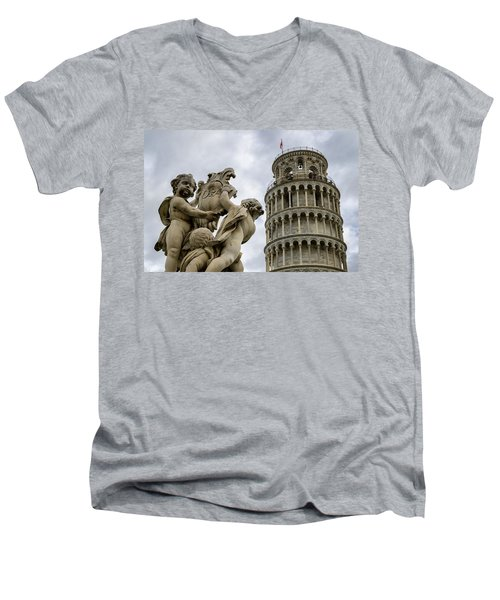 Tower Of Pisa Men's V-Neck T-Shirt