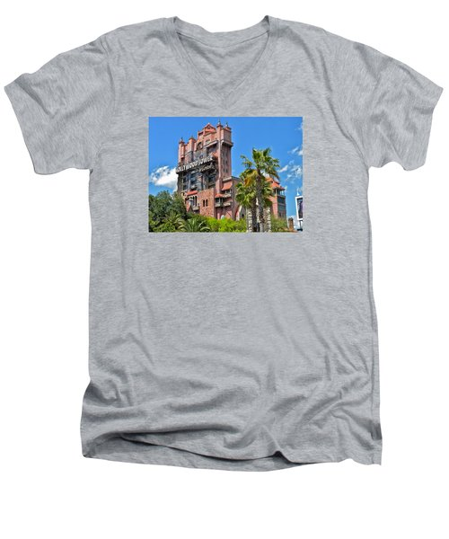 Tower Of Terror Men's V-Neck T-Shirt by Thomas Woolworth