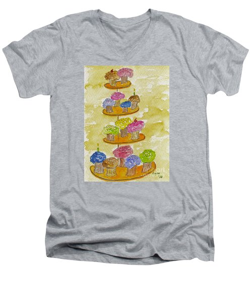 Tower Of Treats Men's V-Neck T-Shirt by AFineLyne