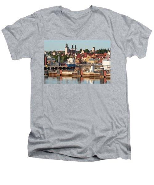 Town Harbour Men's V-Neck T-Shirt