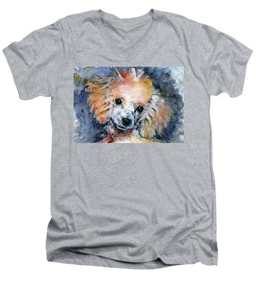 Toy Poodle Men's V-Neck T-Shirt by John D Benson