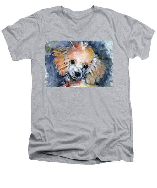 Toy Poodle Men's V-Neck T-Shirt