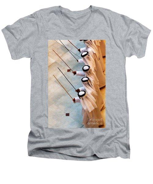 Traditional Emirati Men's Dance  Men's V-Neck T-Shirt