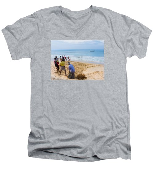Hoisting The Nets Men's V-Neck T-Shirt