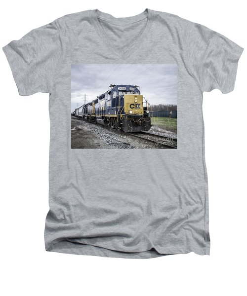 Train Engine 2668 Men's V-Neck T-Shirt
