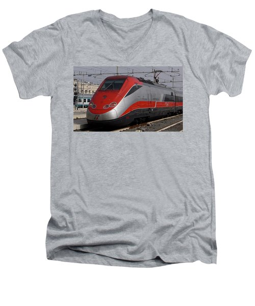 Train Out Of Rome Men's V-Neck T-Shirt
