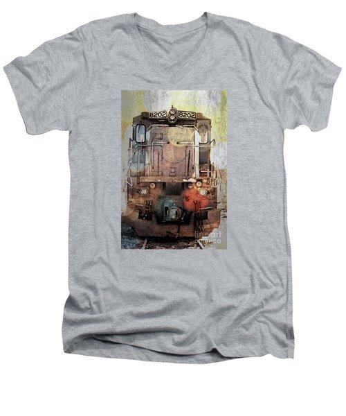 Trains At Rest Men's V-Neck T-Shirt
