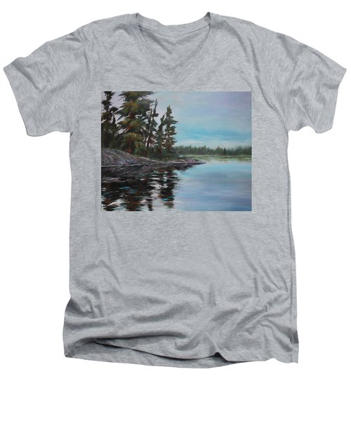 Tranquil Bay Men's V-Neck T-Shirt