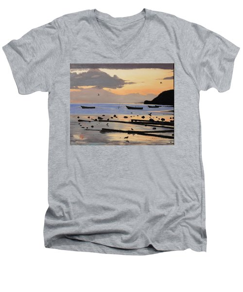 Tranquil Dawn Men's V-Neck T-Shirt