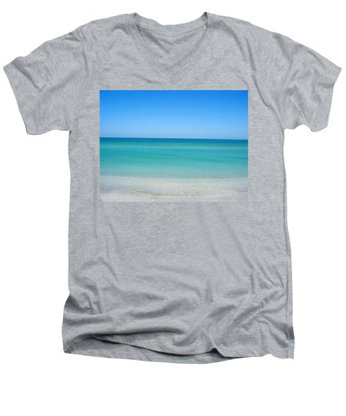 Men's V-Neck T-Shirt featuring the photograph Tranquil Gulf Pond by David Nicholls