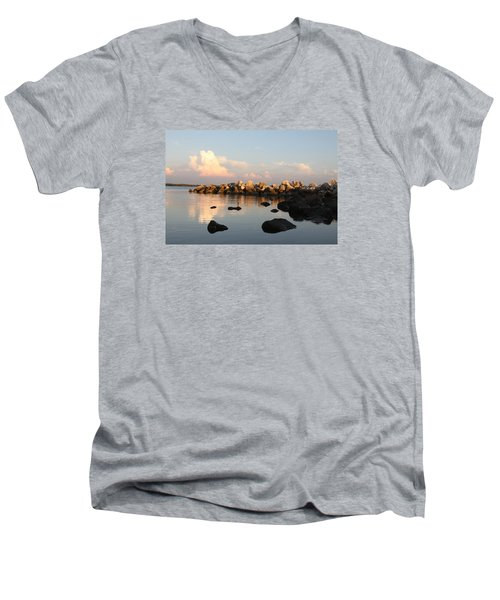 Tranquil Inlet Men's V-Neck T-Shirt