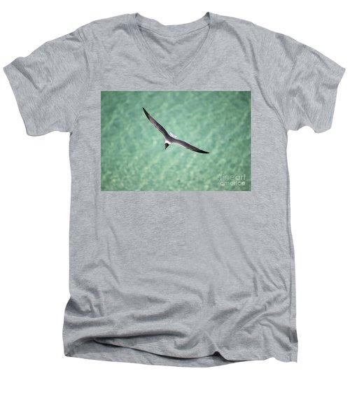 Tranquil Soaring Men's V-Neck T-Shirt