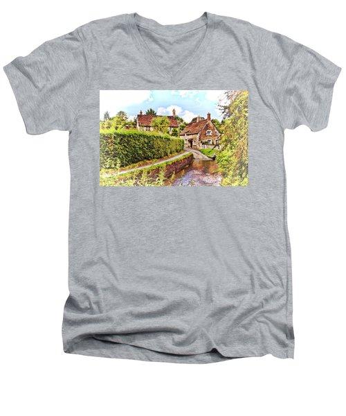 Tranquil Stream Lacock Men's V-Neck T-Shirt