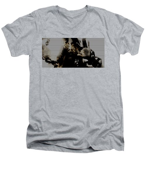 Men's V-Neck T-Shirt featuring the photograph Trapped Inside by Jessica Shelton