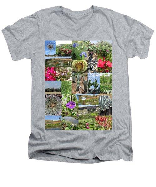 Men's V-Neck T-Shirt featuring the photograph Traveling Baby Pandas At The Plant Nursery. California. by Ausra Huntington nee Paulauskaite