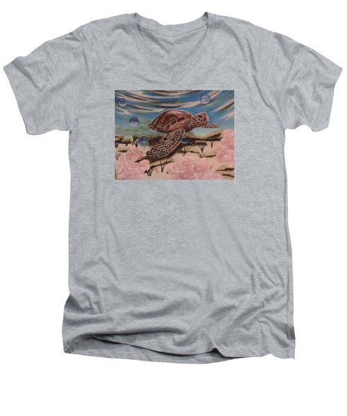Travis Men's V-Neck T-Shirt by Dianna Lewis
