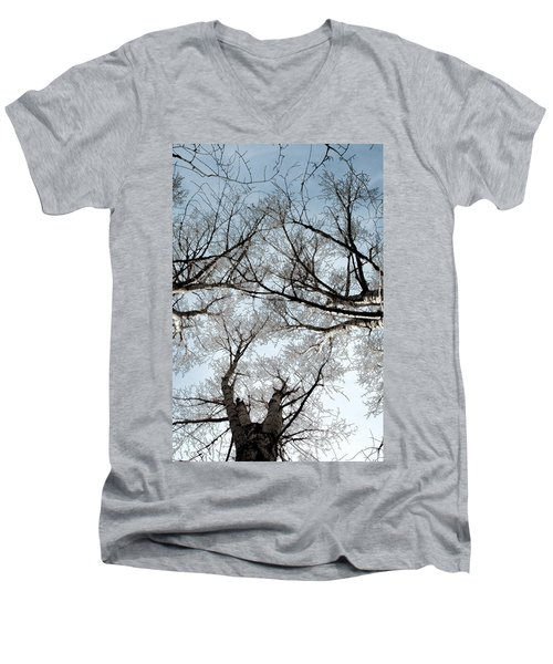 Men's V-Neck T-Shirt featuring the photograph Tree 2 by Minnie Lippiatt