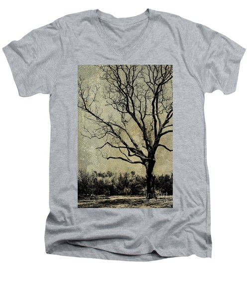 Tree Before Spring Men's V-Neck T-Shirt