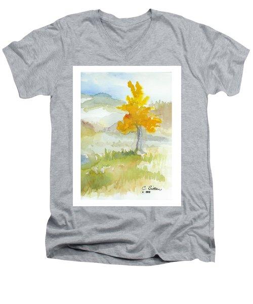 Tree Men's V-Neck T-Shirt by C Sitton