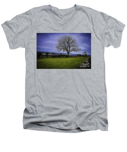 Tree - Hadrian's Wall Men's V-Neck T-Shirt by Mary Carol Story