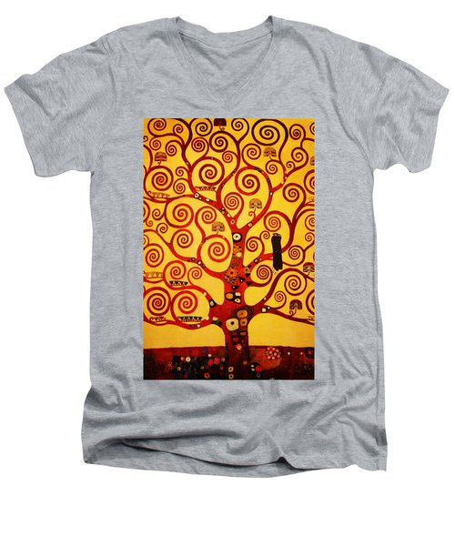 Tree Life Men's V-Neck T-Shirt