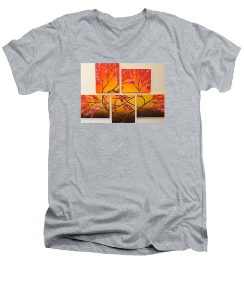 Tree Of Infinite Love Men's V-Neck T-Shirt by Darren Robinson