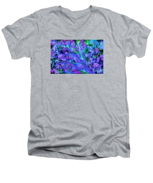Tree Of Peace And Serenity Men's V-Neck T-Shirt by Sherri's Of Palm Springs