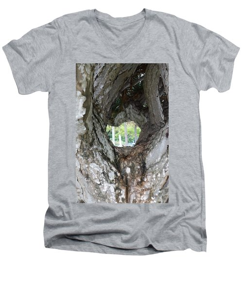 Men's V-Neck T-Shirt featuring the photograph Tree View by Rafael Salazar