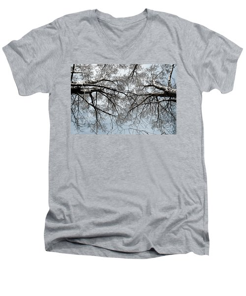 Men's V-Neck T-Shirt featuring the photograph Trees  1 by Minnie Lippiatt