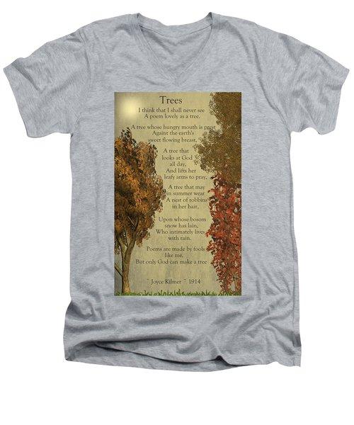 Trees Men's V-Neck T-Shirt by David Dehner