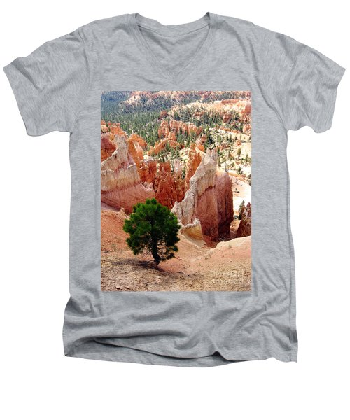 Men's V-Neck T-Shirt featuring the photograph Tree's Eye View by Meghan at FireBonnet Art