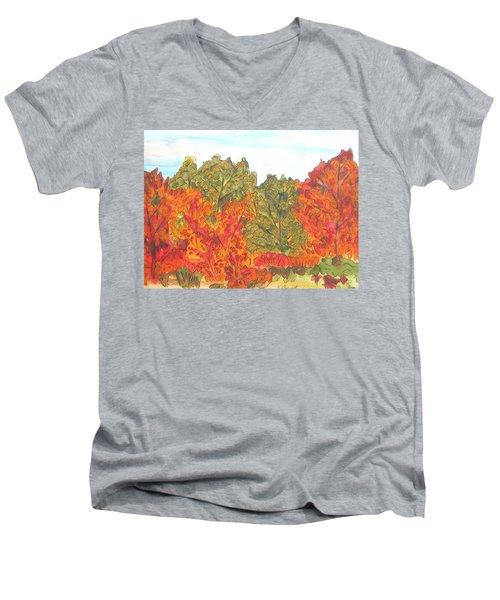 Trees Of Fall Men's V-Neck T-Shirt