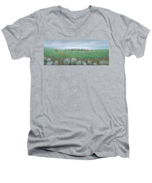 Tresco Cows Men's V-Neck T-Shirt